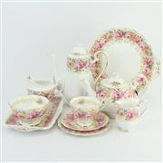 Sale 8356 - Lot 98 - Royal Albert Serena Tea Setting for Six Persons
