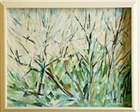 Sale 8392H - Lot 100 - Peter Laverty - Prunus Spring 39 x 49cm