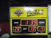 Sale 8407T - Lot 2084 - Wests Tigers Scoreboard Themed Clock