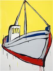 Sale 8420 - Lot 527 - Jasper Knight (1978 - ) - Four Yellow Windows 101 x 76cm