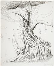 Sale 8538 - Lot 551 - Brett Whiteley (1939 - 1992) - Moreton Bay Fig, 1979 60 x 50cm (sheet size: 80 x 60cm)