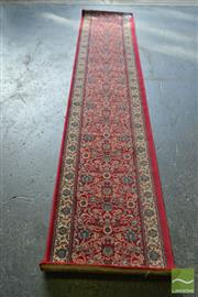 Sale 8523 - Lot 1037 - Red Tone Hall Runner (320 x 66cm)