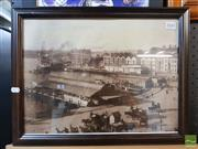 Sale 8544 - Lot 2045 - Circular Quay in the Olden Days Framed Print