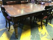 Sale 8653 - Lot 1025 - Late Victorian Oak Patent Extension Dining Table, with four butterfly leaves stored under the top & brass plaques for a Gold Medal,...