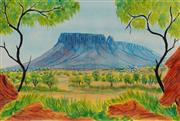 Sale 8675 - Lot 578 - Hilary Wirri (1956 - ) - MT Conner, Central Australia 39.5 x 59cm