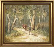 Sale 8720 - Lot 2030 - John Horton - Through the Clearing 37 x 44.5cm