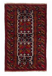 Sale 8715C - Lot 126 - A Persian Balouchi Village Rug, Wool On Cotton Foundation, 147 X 90Cm
