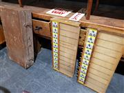 Sale 8765 - Lot 1010 - Early Travelling Bookies Board and 3 Bertting Option Signs