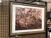 Sale 8779 - Lot 2055 - Betina McMahon - Greek Horsemen, etching and aquatint ed.7/20, 53 x 68cm