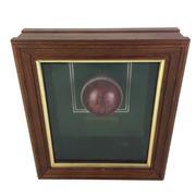 Sale 8863S - Lot 6 - Brett Lee Signed Cricket Ball, in frame