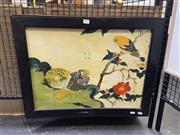 Sale 8924 - Lot 2035 - Chinese School - Birds in a Garden gouache on board, 50 x 65 cm, inscribed,