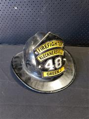 Sale 9002 - Lot 1045 - Firefighters Helmet (h:22 x w:30 x d:25cm)