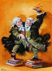 Sale 9038 - Lot 507 - Zoltan Fenyes (1924 - 1997) - Sober as a Judge 59.5 x 44 cm (frame: 68 x 53 x 4 cm )