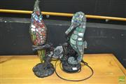 Sale 8431 - Lot 1008 - Animal Form Table Lamps x 2