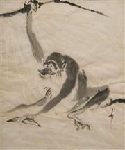 Sale 8621 - Lot 40 - Artist Unknown (Chinese School) - Monkey 46.5 x 39cm
