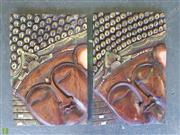Sale 8601 - Lot 1483 - Pair of Timber Buddha Plaques