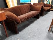 Sale 8684 - Lot 1005 - Bellini 2 Piece Lounge Suite by B&B Italia in Brown Fabric