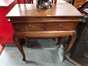 Sale 8700 - Lot 1066 - Timber Hall Table with Two Drawers