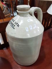 Sale 8777 - Lot 1084 - Ceramic Demijohn marked ICIANZ LTD., Sydney