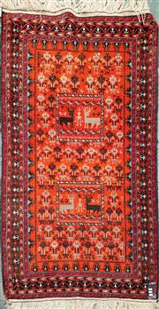 Sale 8831 - Lot 1084A - Afghan Kilim Depicting Animals (195 x 110cm)