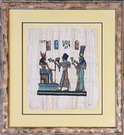 Sale 9041 - Lot 2079 - Framed Egyptian Cloth (69 x 63cm)