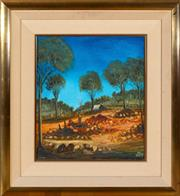Sale 8562A - Lot 81 - Kevin Charles Pro Hart - Two Miners 49 x 43cm