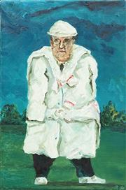Sale 8642 - Lot 547 - John Kelly (1965 - ) - Cricket Umpire, 1990 76 x 50.5cm