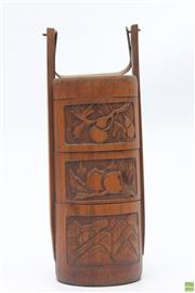 Sale 8654 - Lot 71 - Bamboo Childrens Lunchbox
