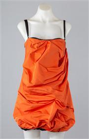 Sale 8685F - Lot 22 - A Dolce & Gabbana burnt orange textured bubble dress with internal boning, size 42