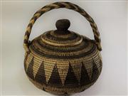 Sale 8706A - Lot 95 - A PNG woven basket, H 30 x W 28cm