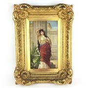 Sale 8795K - Lot 265 - A C19th KPM hand-painted tile of Roman woman