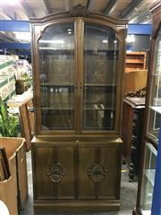 Sale 8822 - Lot 1296 - Timber Display Cabinet