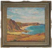 Sale 8914 - Lot 2011 - V. Maestri (C20th) Garie Beach, Royal National Park oil on board, 50 x 56.5cm, signed indistinctly lower right -