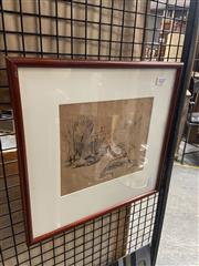 Sale 8924 - Lot 2027 - Artist Unknown - Street Scene Paris, ink on paper, 34 x 35.5cm (frame), unsigned