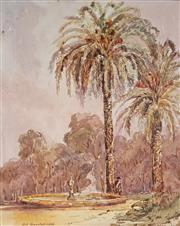 Sale 8992 - Lot 535 - Louis Buvelot (1814 - 1888) - Brisbane, 1866 31 x 24.5 cm (mount: 41.5 x 34.5 cm)