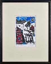 Sale 8330A - Lot 111 - Harry Rosengrave (1899 - 1986) - Snowscape 11.5 x 17.5cm