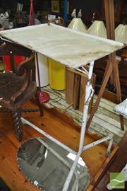 Sale 8431 - Lot 1051 - Vintage Metal Adjustable Dinner Tray