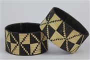 Sale 8520T - Lot 1 - Cultural Woven Bangles 10cm x 5cm