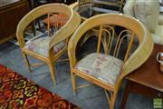 Sale 8515 - Lot 1060 - Cane 3 Piece Outdoor Suite