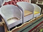 Sale 8545 - Lot 1082 - Three Varied Wicker Tub Chairs
