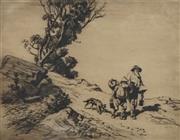Sale 8708A - Lot 597 - Lionel Lindsay (1874 - 1961) - Mates, 1922 21 x 27cm