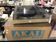 Sale 8789 - Lot 2257 - Akai Turntable, stylus in office