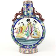 Sale 8795K - Lot 266 - A twin handled Chinese moon flask vase
