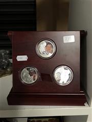 Sale 8819 - Lot 2380 - Set of Silverplate and Enamel Star WarTokens