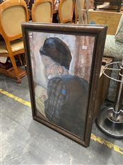 Sale 9087 - Lot 2097 - Cyla Fersht - Mysteries of Cabala, Pastel, 83x58cm, SLR, details verso -