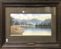 Sale 9103 - Lot 2010 - Hyde Perrott (c1880 - 1935) Lachlan River, NSE pastel on paper 50 x 87cm (frame) signed