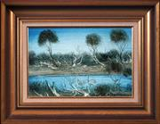 Sale 8427 - Lot 545 - Kevin Charles (Pro) Hart (1928 - 2006) - Billabong 20 x 30cm