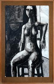 Sale 8427 - Lot 534 - Martin Sharp (1942 - 2013) - Nude, 1962 100.5 x 62.5cm