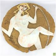 Sale 8649R - Lot 52 - Australian Ceramic Art Platter (Dia: 56cm)