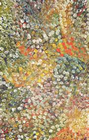 Sale 8642 - Lot 540 - Polly Ngale (c1936 - ) - Bush Plum 150 x 96cm